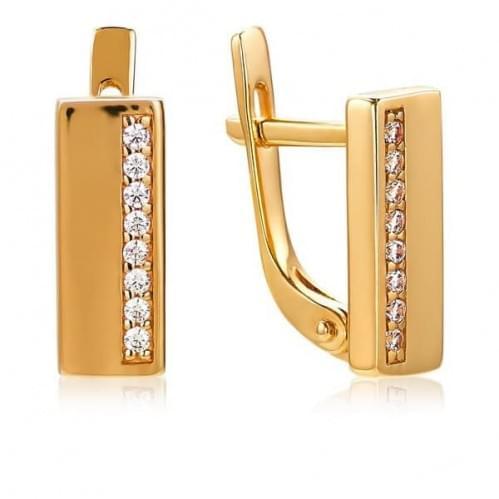Золоті сережки з фіанітами СВ1375и