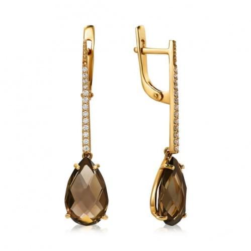 Золоті сережки з топазом СВ1380.12011н