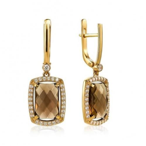 Золоті сережки з топазом СВ1382.12011н