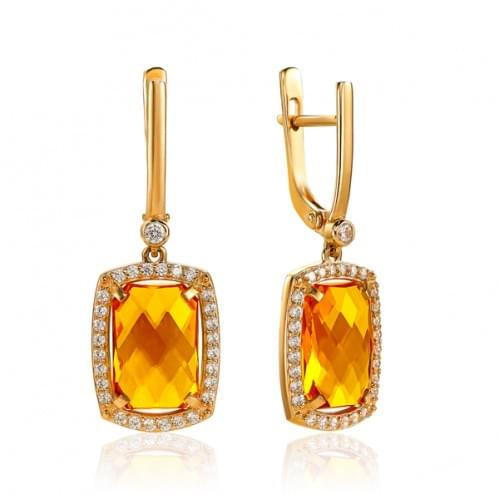Золоті сережки з нано султанітом СВ1382.16715н