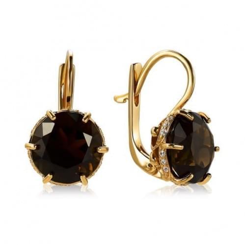 Золоті сережки з топазом СВ1383.12011н