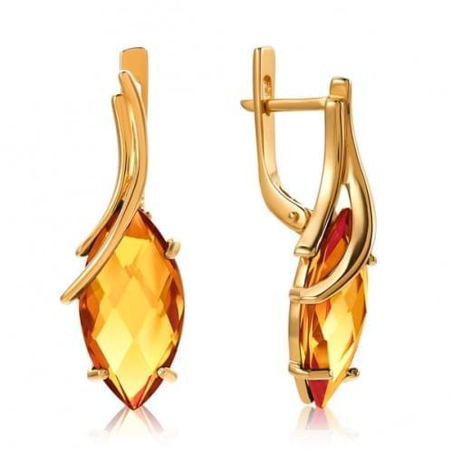 Золотые серьги с нано султанитом СВ1389.16715н