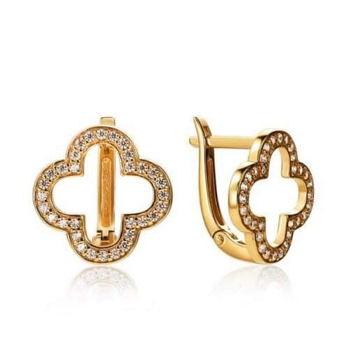 Золоті сережки з фіанітом СВ1432и