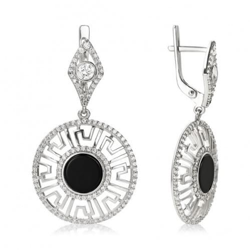 Срібні сережки з фіанітом СВ1452с