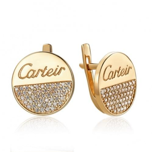 Золоті сережки з фіанітом СВ1455и