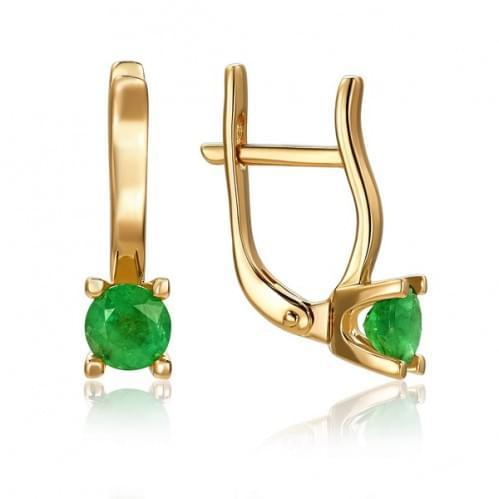 Золоті сережки з смарагдом СВ1481.00207н