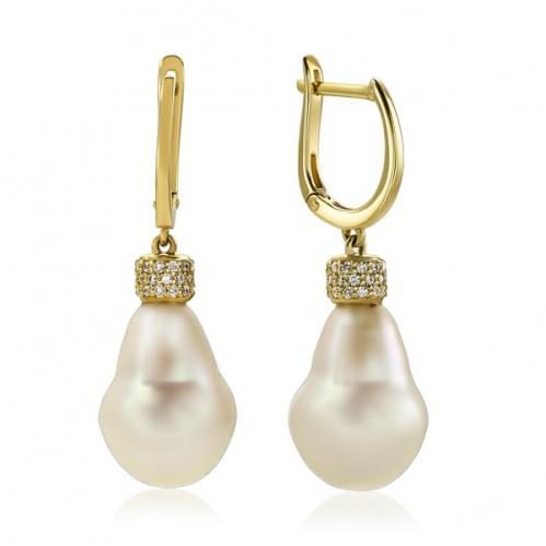 Золоті сережки з перлами СВ1501.19913Лрн