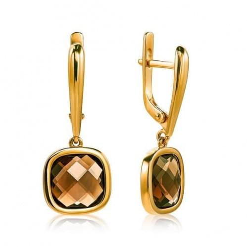 Золоті сережки з топазом СВ1855.12011н