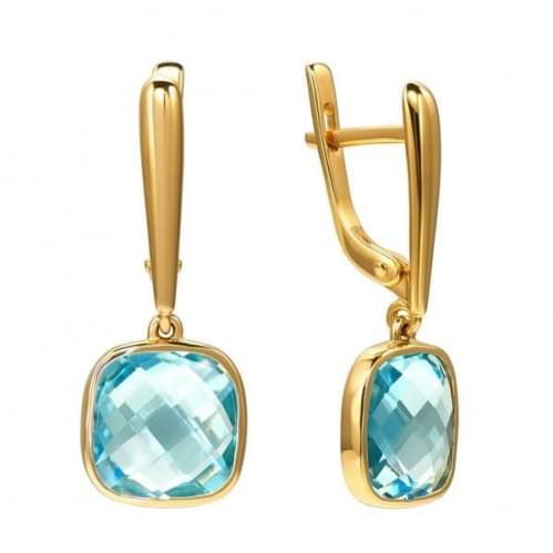 Золоті сережки з топазом СВ1855.12401н