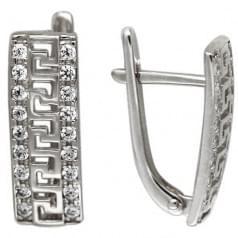 Срібні сережки з цирконієм