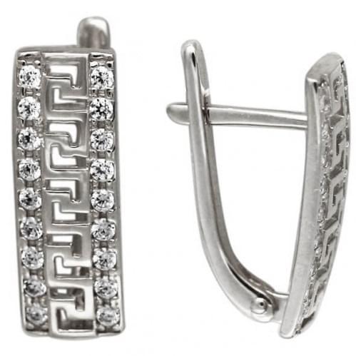 Серебряные серьги с цирконием СВ226с