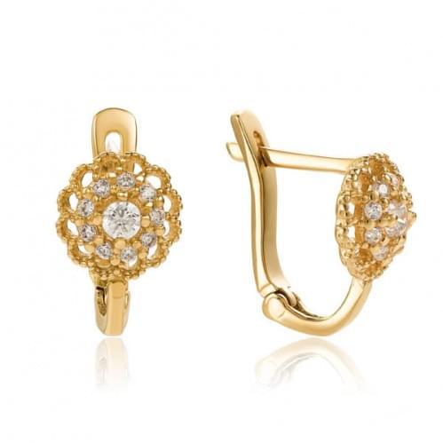 Золоті сережки з фіанітом СВ234и