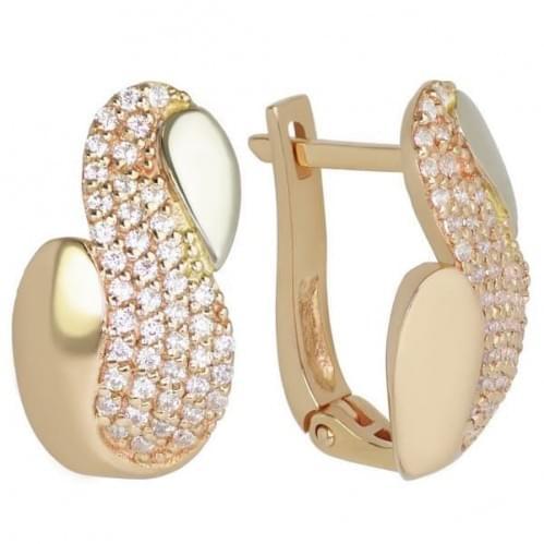 Золоті сережки з фіанітом СВ239и
