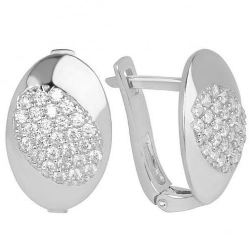 Сережки срібні зі вставкою СВ241с