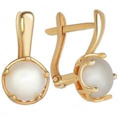 Золоті сережки з перлами