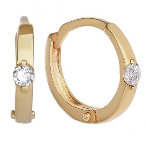 Золоті сережки з фіанітом СВ244и