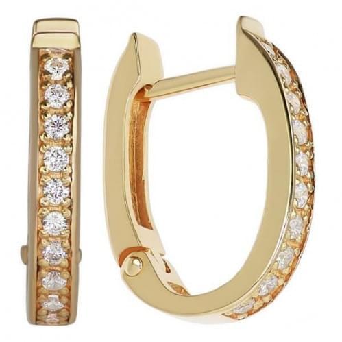 Золоті сережки з фіанітом СВ245и