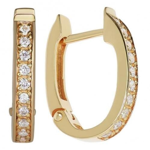 Золоті сережки зі вставкою СВ245н