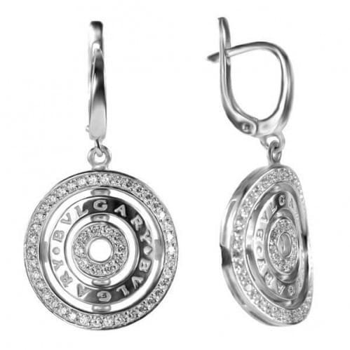 Серебряные серьги со вставкой СВ262(2)с