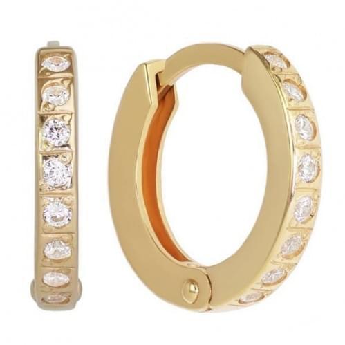 Золоті сережки з фіанітом СВ263(2)и