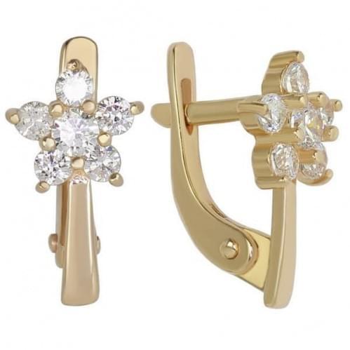 Золоті сережки з фіанітом СВ265.04и