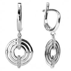 Серьги серебряные женские