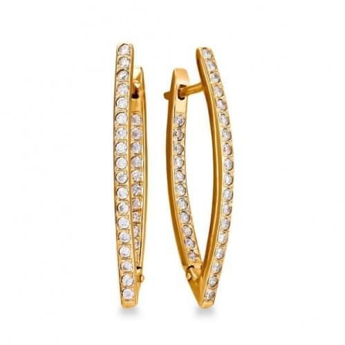 Золоті сережки з фіанітом СВ277и