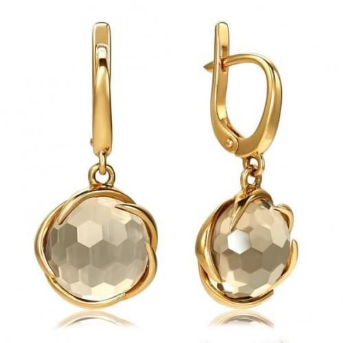 Золоті сережки з топазом СВ371.12011н