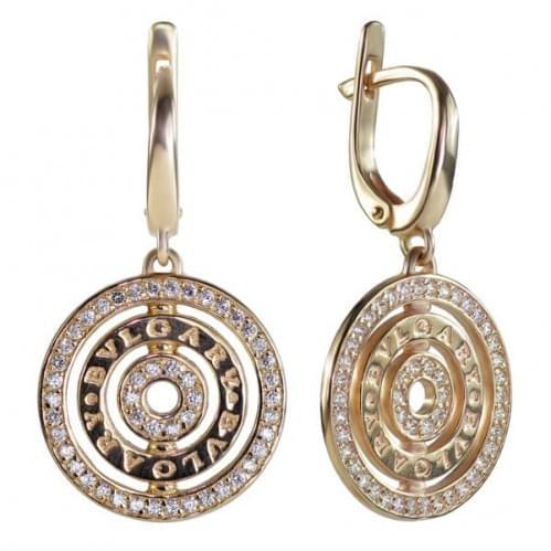 Золоті сережки з фіанітом СВ376и