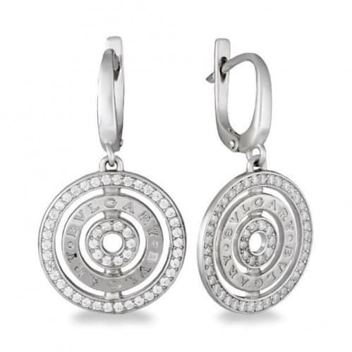 Серебряные серьги с фианитом СВ376с