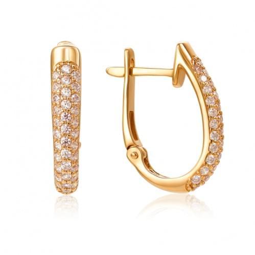 Золоті сережки з фіанітом СВ503(м)и