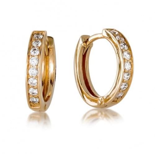 Золоті сережки з фіанітом СВ645(2)и