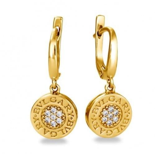 Золоті сережки з фіанітом СВ672и