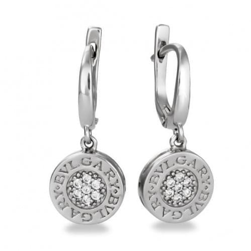 Срібні сережки з фіанітом СВ672с