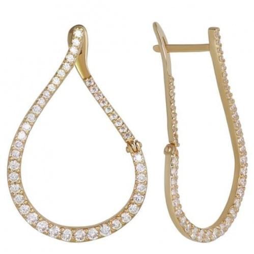 Золоті сережки з фіанітом СВ698и