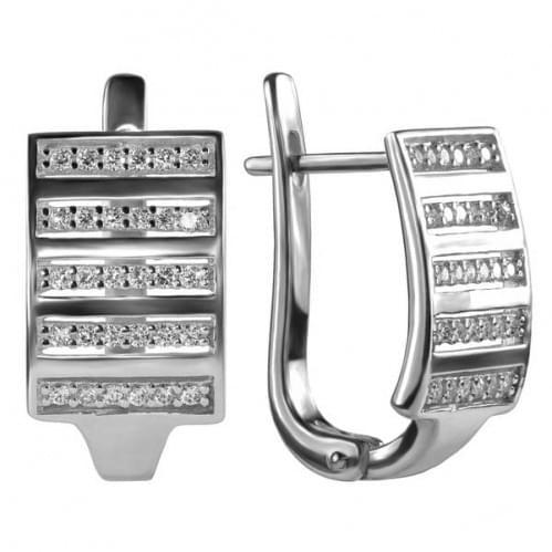 Срібні сережки з цирконієм СВ714с