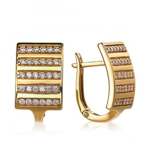 Золоті сережки з фіанітом СВ714(2)и