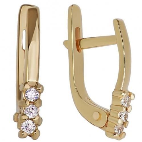 Золоті сережки з фіанітом СВ758и