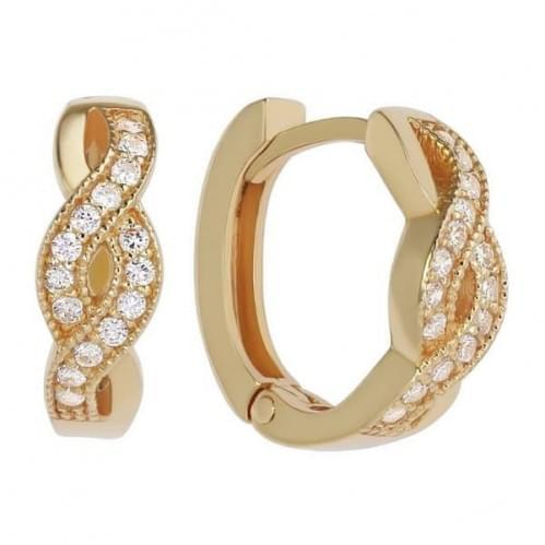 Золоті сережки з фіанітом СВ772и