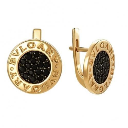 Золоті сережки з фіанітом СВ785.10и
