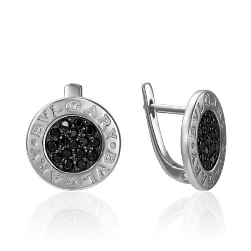 Срібні сережки з фіанітом СВ785.10с