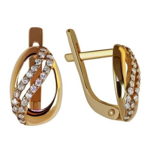 Золоті сережки з фіанітом СВ794и