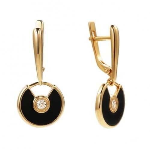 Золоті сережки з емаллю СВ796и