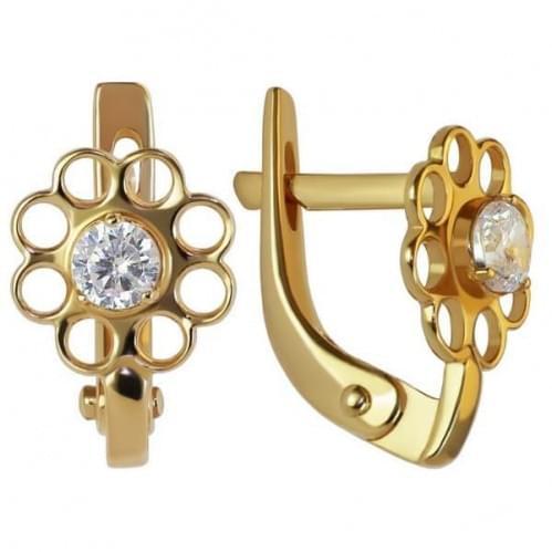 Золоті сережки з фіанітом СВ798и