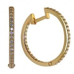 Серьги золотые Кольца