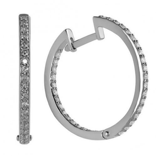 Срібні сережки з фіанітом СВ801с