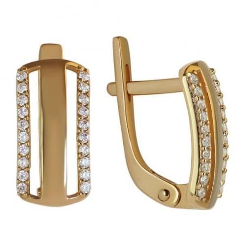 Золоті сережки з фіанітом СВ804и