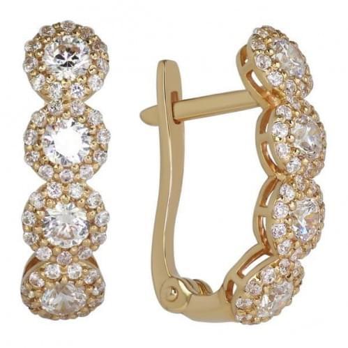 Золоті сережки з фіанітом СВ818(в)и