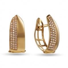 Золотые серьги с цирконием