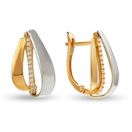 Золоті сережки з фіанітом СВ830и